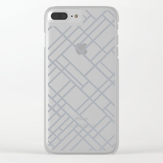 Map Outline Grey 45 Clear iPhone Case