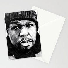 50 Cent Pen Drawing Stationery Cards