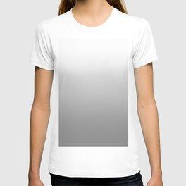 White to Gray Horizontal Linear Gradient T-shirt