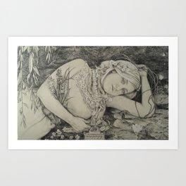 Rimbaud's Ophelia Art Print