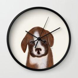 little boxer Wall Clock