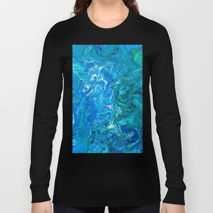 Elegant Crazy Lace Agate 2 - Blue Aqua Long Sleeve T-shirt