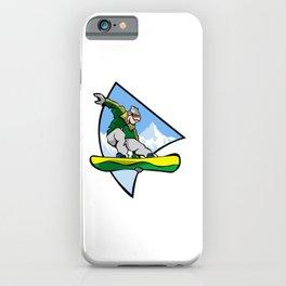 Snowboard Jump Trick iPhone Case