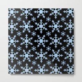 Let it Snow Mix 2 Midnight Version Metal Print
