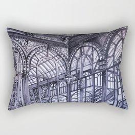 Cool grey - Crystal Palace, Park Retiro, Madrid Rectangular Pillow