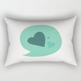 I only talk about love Rectangular Pillow
