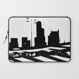 City Scape in Black and White Laptop Sleeve