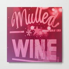 Mulled Wine Vintage Christmas Sign Metal Print