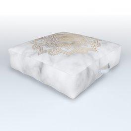 Marble Gold Mandala Design Outdoor Floor Cushion