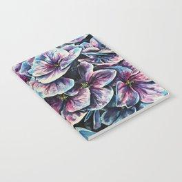 purple flowers watercolor art Notebook