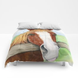 Cinnamon Horse Watercolor Comforters