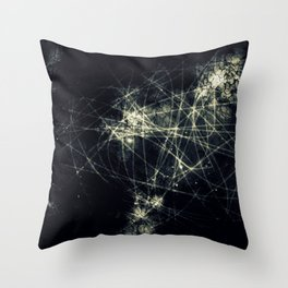 Infinity Particles Abstract Throw Pillow