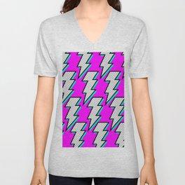 Purple Lightening Unisex V-Neck