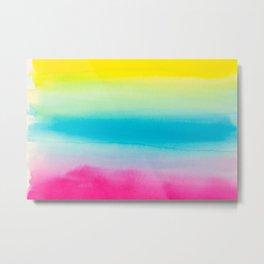 Beautiful Watercolor Rainbow Metal Print