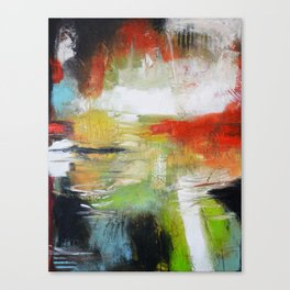 Unfinished Book - Abstract large print from original painting Canvas Print