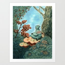 Someone who lives in a tree Art Print