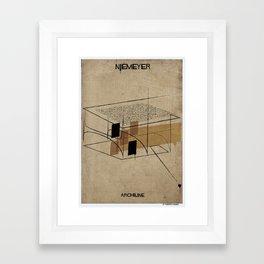 02_Archiline- niemeyer Framed Art Print