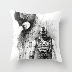 Bat In Black (The Dark Knight Rises) Throw Pillow