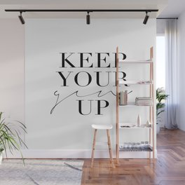 Keep Your Gin Up Print- Wall Art, Wall Prints, Typography Print, Wall Decor, Funny Quote Wall Mural