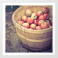 Apple Barrel Art Print