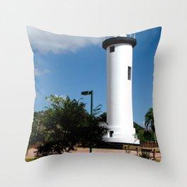Old Lighthouse @ Rincon Throw Pillow