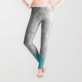 Geometric Concrete Arrow Design - Light Blue #206 Leggings