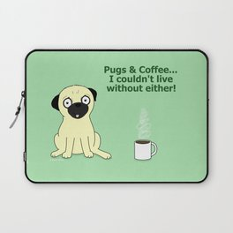 Pugs and Coffee Laptop Sleeve