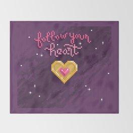Follow Your Heart Throw Blanket