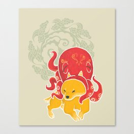 Octopus Funny Dog Costume - Sea Collection Canvas Print
