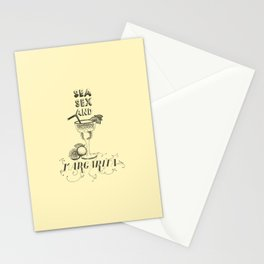 Sea, Sex and Margarita Stationery Cards