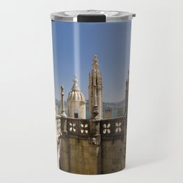 ornamental turrets in the Torre de Belem, Lisbon Travel Mug