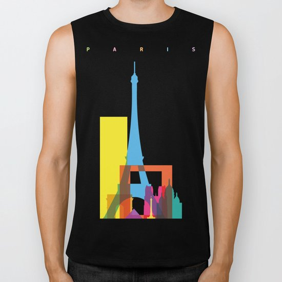 Shapes of Paris. Accurate to scale. Biker Tank