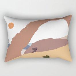 Arch Rock Abstract Landscape Rectangular Pillow