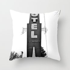 Morgan Motel sign Throw Pillow