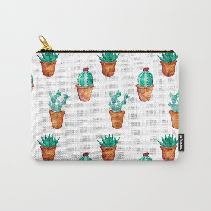 Cactus pattern Carry-All Pouch