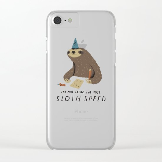 sloth speed Clear iPhone Case