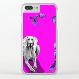 WUBBA WEIMARANER Clear iPhone Case
