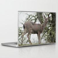 reindeer Laptop & iPad Skins featuring Reindeer by Marina Saavedra