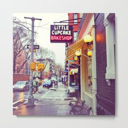 Little Cupcake Bake Shop - NYC Metal Print