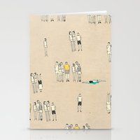 it crowd Stationery Cards featuring Crowd by Lera Sxemka