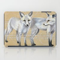 foxes iPad Cases featuring foxes by Ashley White Jacobsen