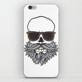Bearded Skull iPhone Skin