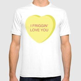 Ron Burgundy Conversation Heart T-shirt