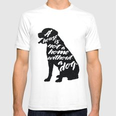 Dog Lover | Labrador SMALL Mens Fitted Tee White