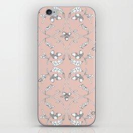 Acorns and ladybugs pink pattern iPhone Skin