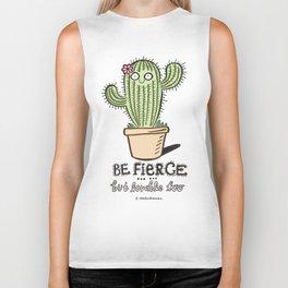 be fierce...but lovable too Biker Tank