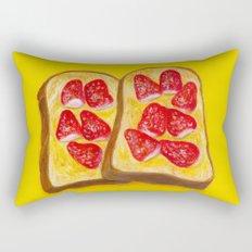 Strawberry Toast Rectangular Pillow