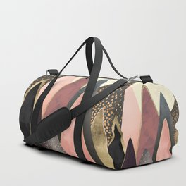 Pink and Gold Peaks Duffle Bag