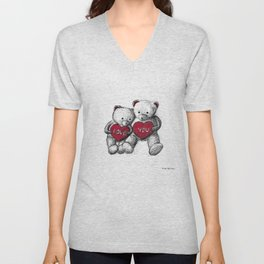 Bear: Valentine's Day Unisex V-Neck