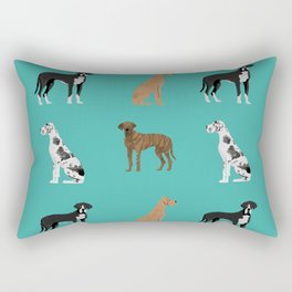 Great Danes mixed coats dog breed must have pure breed lovers Rectangular Pillow